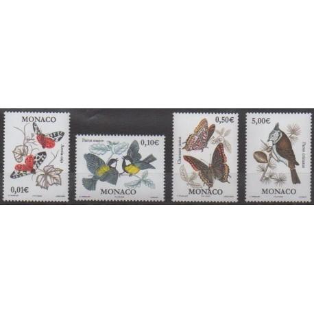 Monaco - 2002 - No 2323/2326 - Oiseaux - Insectes