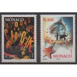 Monaco - 2002 - No 2347/2348 - Cirque