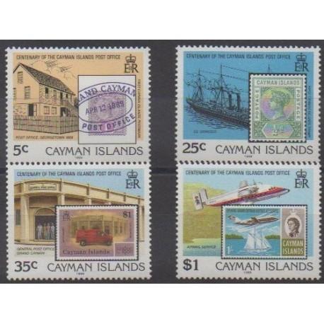 Caïmans (Iles) - 1989 - No 634/637 - Timbres sur timbres