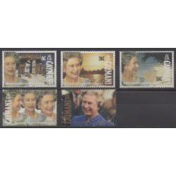 Caïmans (Iles) - 1992 - No 690/694 - Royauté - Principauté