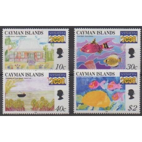 Caïmans (Iles) - 1999 - No 820/823 - Dessins d'enfants