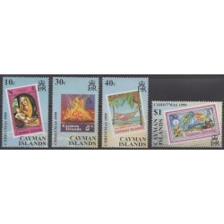 Cayman ( Islands) - 1999 - Nb 834/837 - Christmas - Stamps on stamps