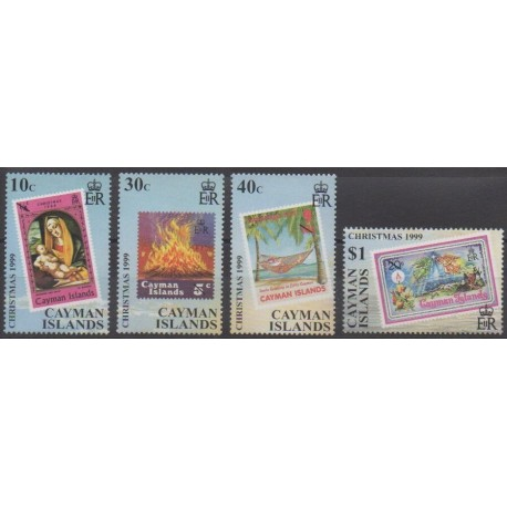 Caïmans (Iles) - 1999 - No 834/837 - Noël - Timbres sur timbres