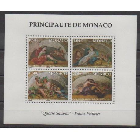 Monaco - Blocs et feuillets - 2002 - No BF87 - Peinture