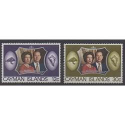 Caïmans (Iles) - 1972 - No 306/307 - Royauté - Principauté