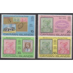 Cayman ( Islands) - 1976 - Nb 367/370 - Stamps on stamps