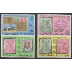 Caïmans (Iles) - 1976 - No 367/370 - Timbres sur timbres