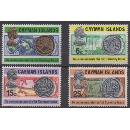 Caïmans (Iles) - 1973 - No 308/311 - Monnaies, billets ou médailles