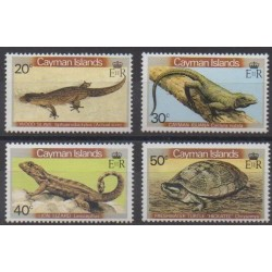 Caïmans (Iles) - 1981 - No 474/477 - Reptiles