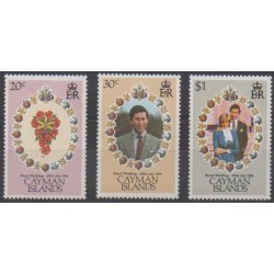 Caïmans (Iles) - 1981 - No 478/480 - Royauté - Principauté