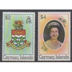 Caïmans (Iles) - 1982 - No 496K/496L - Armoiries - Royauté - Principauté