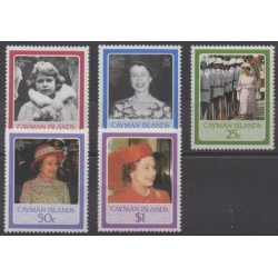 Caïmans (Iles) - 1986 - No 572/576 - Royauté - Principauté