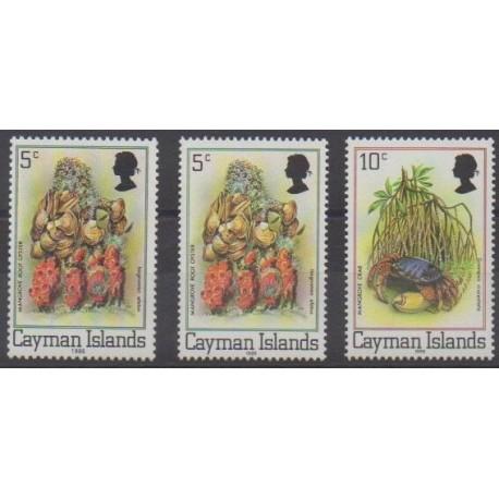 Caïmans (Iles) - 1986 - No 577/579 - Animaux marins