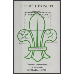 Saint Thomas and Prince - 1988 - Nb BF63 - Scouts