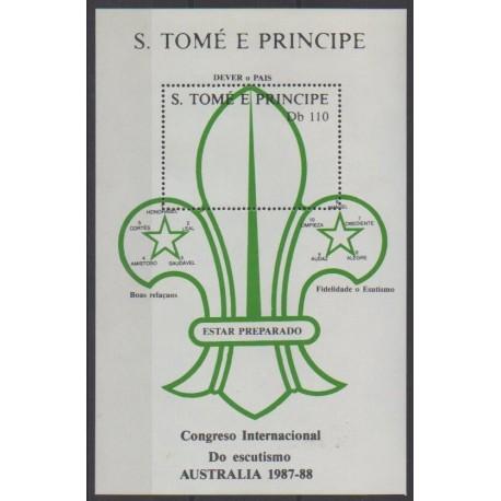 Saint-Thomas et Prince - 1988 - No BF63 - Scoutisme