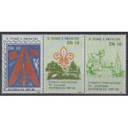Saint Thomas and Prince - 1988 - Nb 929/931 - Scouts