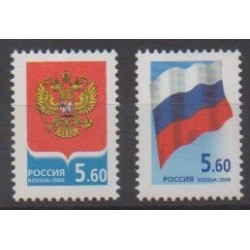 Russia - 2006 - Nb 6940/6941 - Coats of arms - Flags
