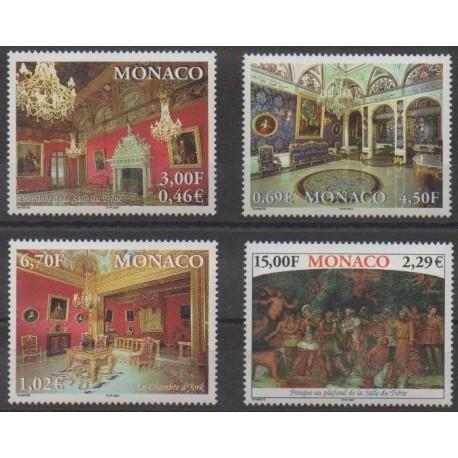 Monaco - 2001 - No 2310/2313 - Châteaux