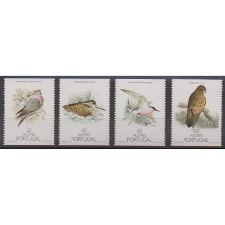 Portugal (Açores) - 1988 - No 381a/384a - Oiseaux