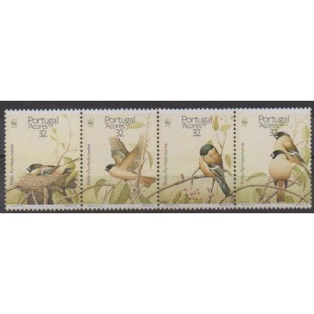 Portugal (Açores) - 1990 - No 395/398 - Oiseaux - Espèces menacées - WWF