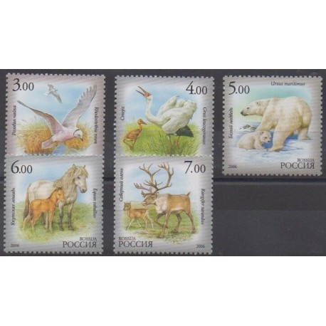 Russie - 2006 - No 6970/6974 - Animaux