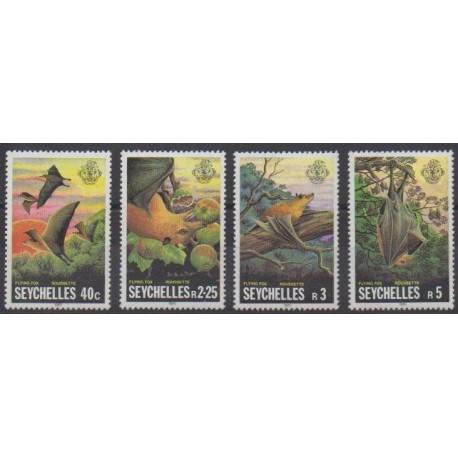 Seychelles - 1981 - No 485/488 - Mammifères
