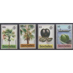 Seychelles - 1980 - Nb 454/457 - Trees - Fruits or vegetables