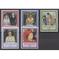 Seychelles - 1987 - Nb 634/638 - Royalty