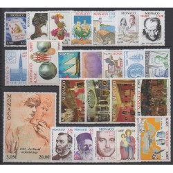 Monaco - Complete year - 2001 - Nb 2295/2318