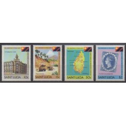 Sainte-Lucie - 1983 - No 586/589 - Histoire