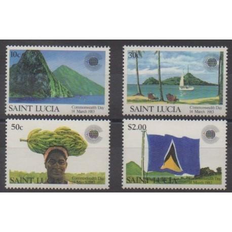 Sainte-Lucie - 1983 - No 582/585 - Histoire