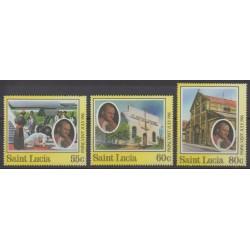 Sainte-Lucie - 1986 - No 818/820 - Papauté