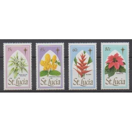 Sainte-Lucie - 1988 - No 913/916 - Fleurs