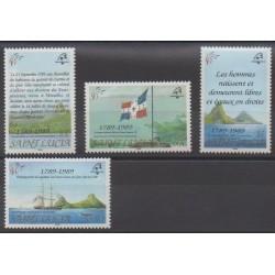 Sainte-Lucie - 1989 - No 925/928 - Droits de l'Homme