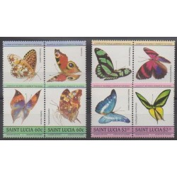 Sainte-Lucie - 1985 - No 720/727 - Insectes