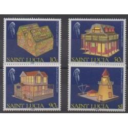 Sainte-Lucie - 1989 - No 932/935 - Noël