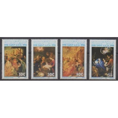 Sainte-Lucie - 1990 - No 961/964 - Noël