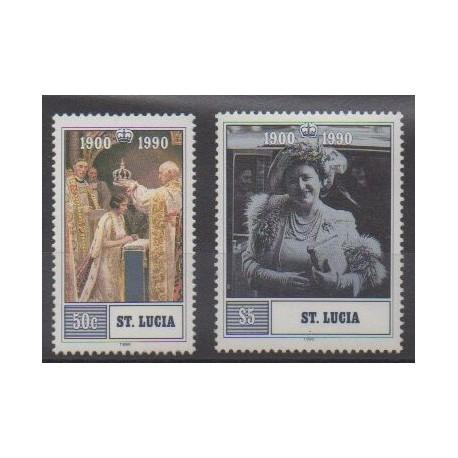 Sainte-Lucie - 1990 - No 958/959 - Royauté - Principauté