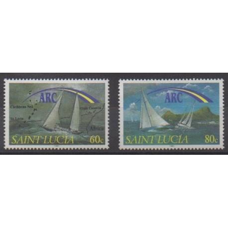 Sainte-Lucie - 1991 - No 977/978 - Navigation