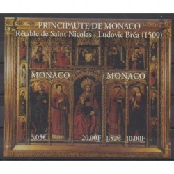 Monaco - Blocs et feuillets - 2000 - No BF84 - Religion - Art