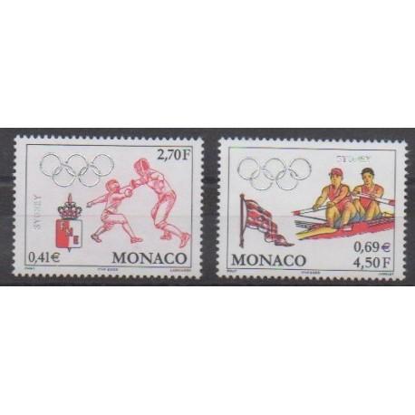 Monaco - 2000 - No 2261/2262 - Jeux Olympiques d'été
