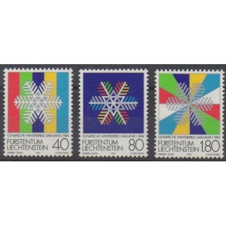Liechtenstein - 1983 - No 775/777 - Jeux olympiques d'hiver