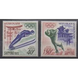 Gabon - 1972 - Nb PA122/PA123 - Winter Olympics