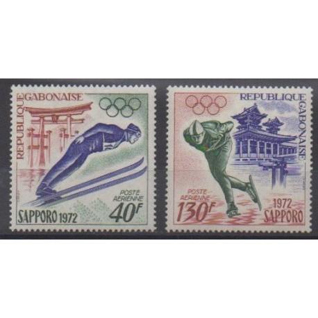 Gabon - 1972 - No PA122/PA123 - Jeux olympiques d'hiver