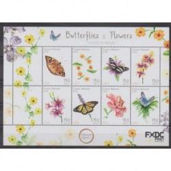 Pays-Bas caribéens - Saba - 2018 - No 62/69 - Fleurs - Insectes