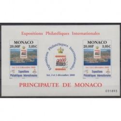 Monaco - Blocs et feuillets - 2000 - No BF85 - Exposition