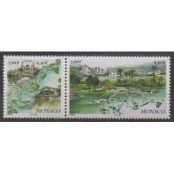 Monaco - 1999 - No 2203/2204 - Parcs et jardins - Europa