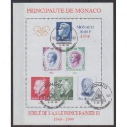 Monaco - Blocs et feuillets - 1999 - No BF83 - Royauté - Principauté - Oblitéré