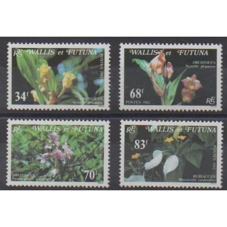 Wallis et Futuna - 1982 - No 286/289 - Orchidées
