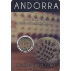 Andorre - 2016 - 25 ans de la radio et de la télévision Andorrane